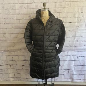 Pure Energy- black, long puffer coat